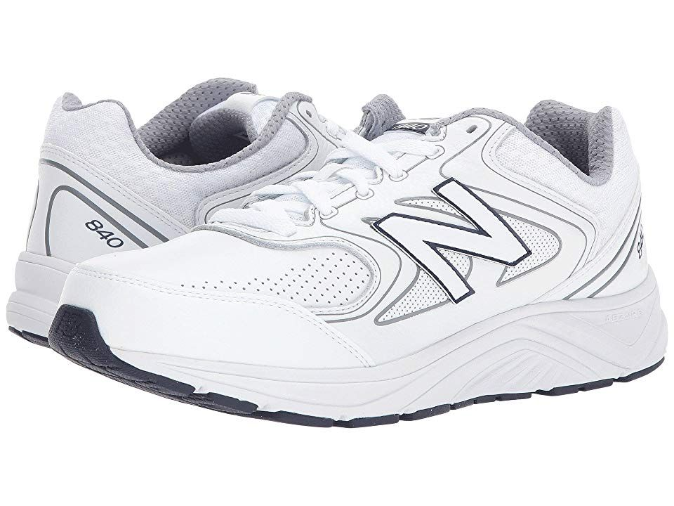 New Balance MW840v2 Men's Walking Shoes White/Navy Mens