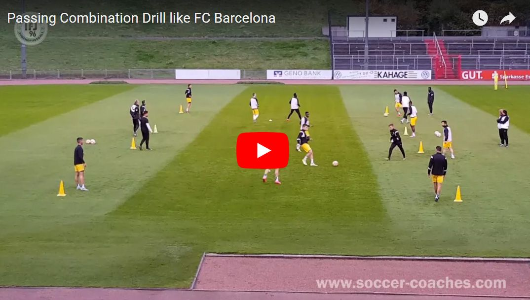 Soccer Passing Combination Drill