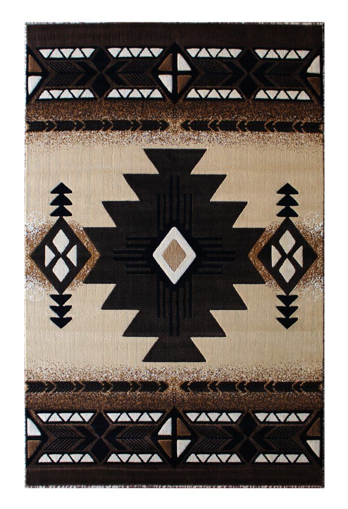 South West Native American Area Rug 8 Ft X 10 Ft Berber Design