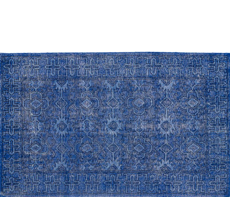 The Eye Catching Rustic Blue Rug Is 8