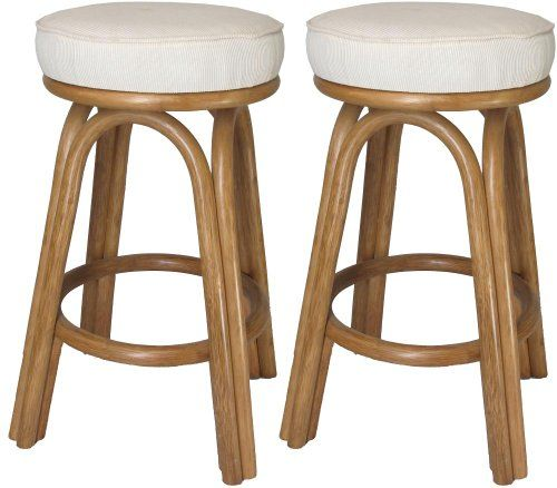 Beautiful Rattan Backless Counter Stools