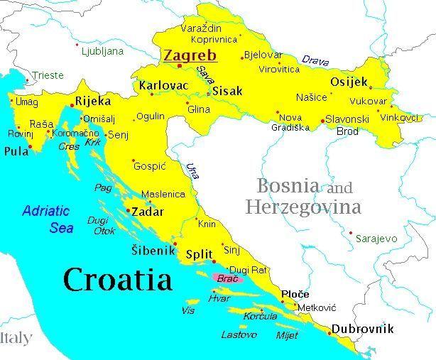 Resultado De Imagen Para Mapas Turisticos De Croacia Croacia