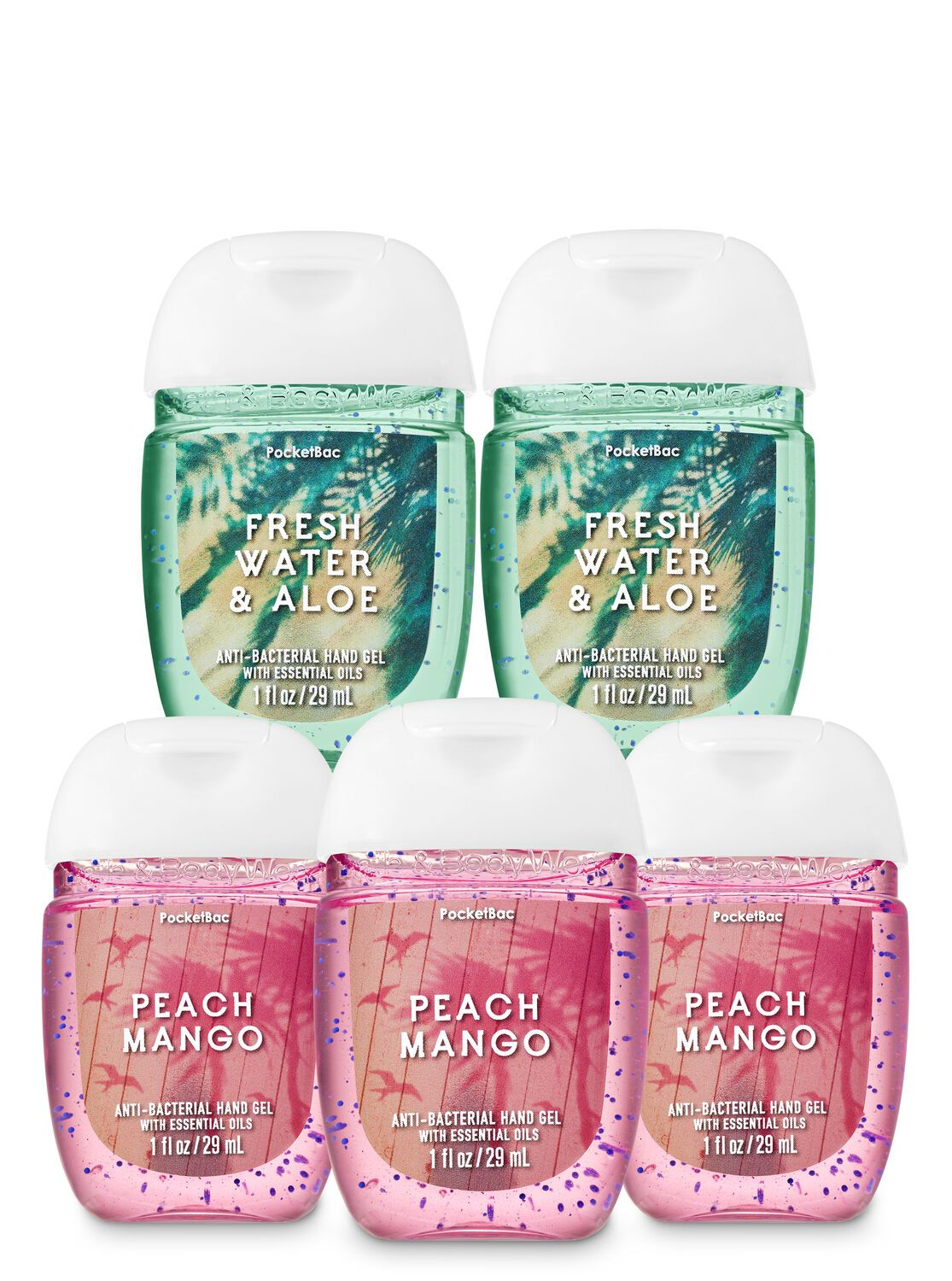 Bath Body Works Good Vibes Pocketbac Hand Sanitizers 5 Pack