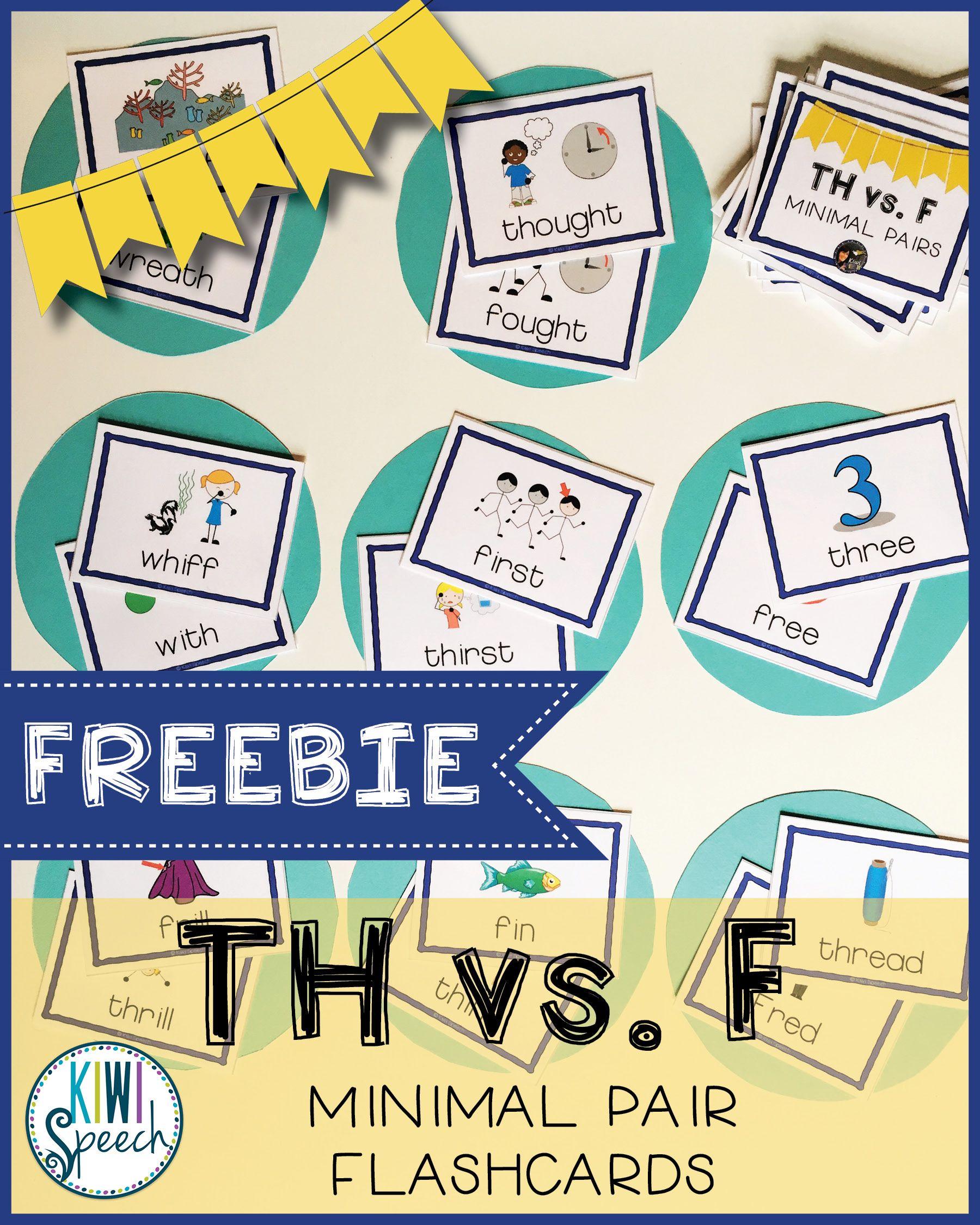 Th Vs F Minimal Pairs Flashcards Freebie
