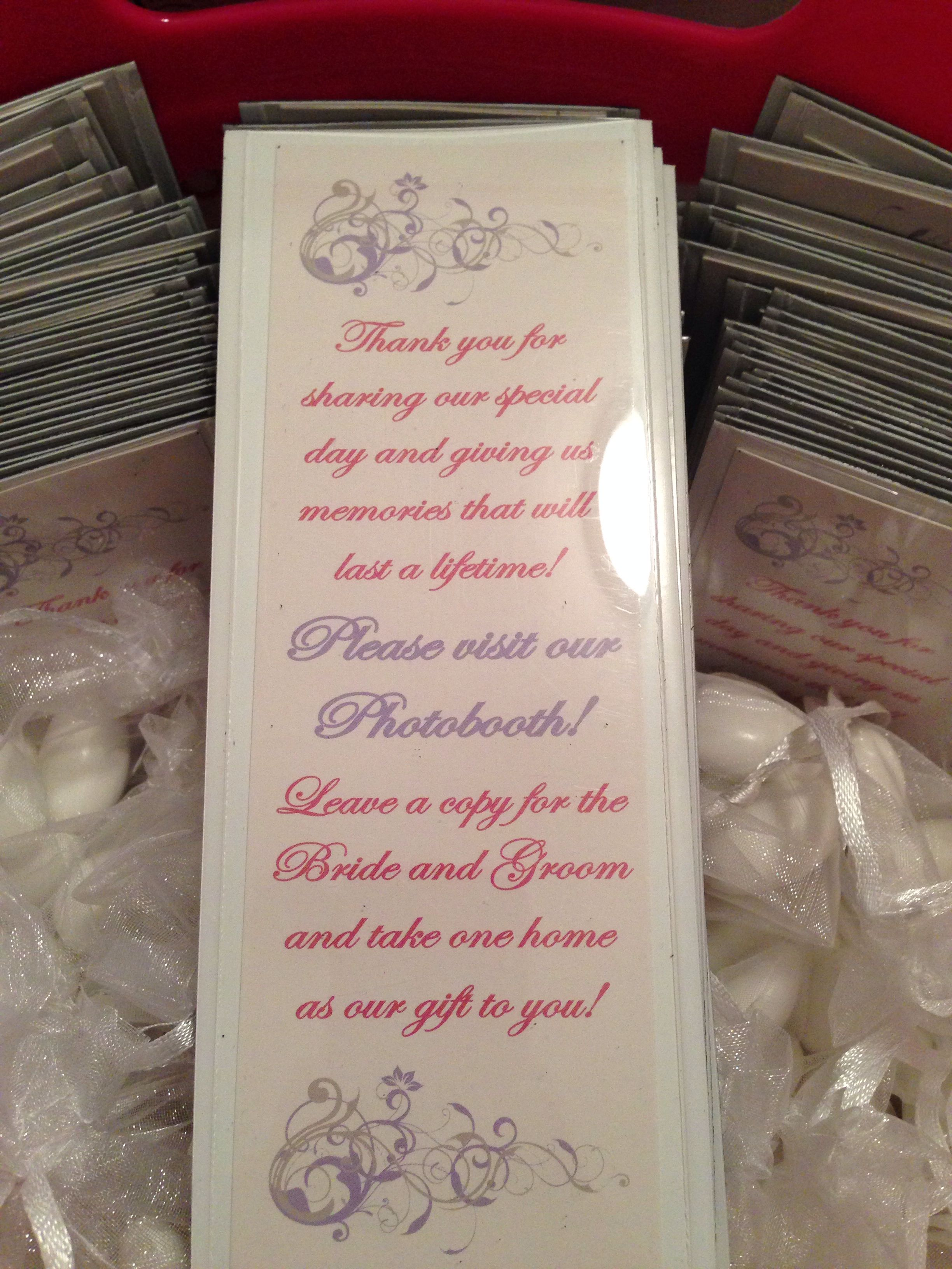 Photobooth Magnet Frames With Thank You Insert Wedding Pinterest