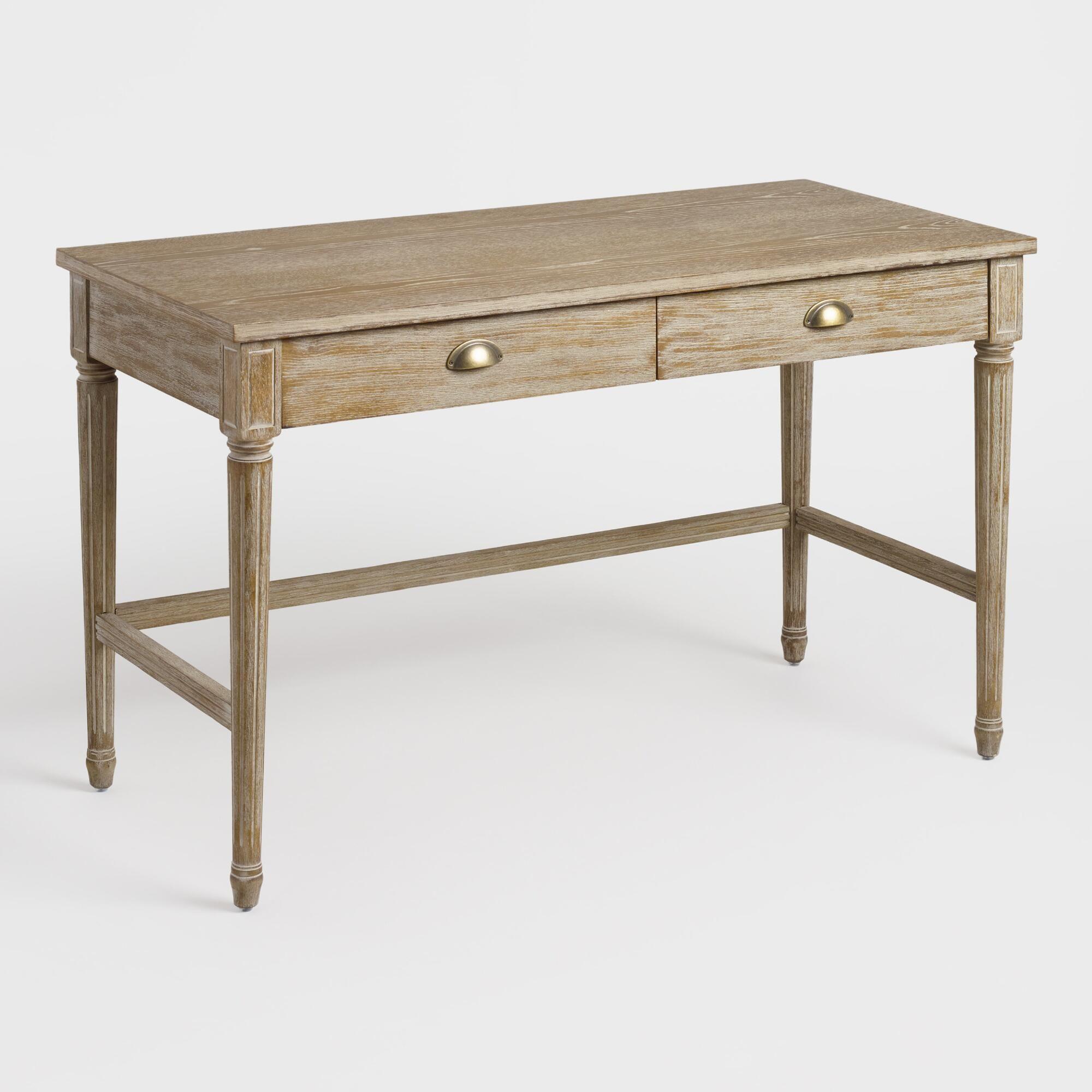 Brown Distressed Wood Paige Desk By World Market Metallicheskaya Mebel Tualetnye Stoliki Stoliki