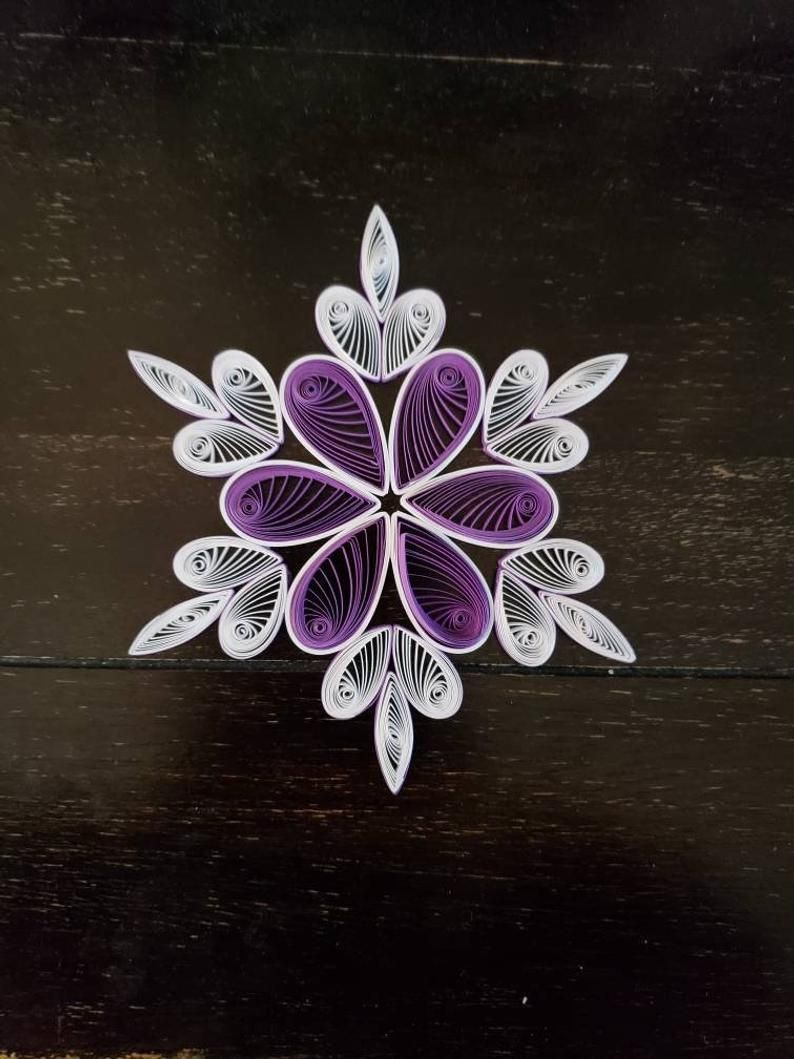 5 inch Quilled Snowflakes Christmas Ornament   Etsy