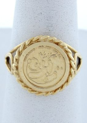 I Still Have My Gold Panda Coin Ring From 1993 Rope Design Ring Designs Coin Ring