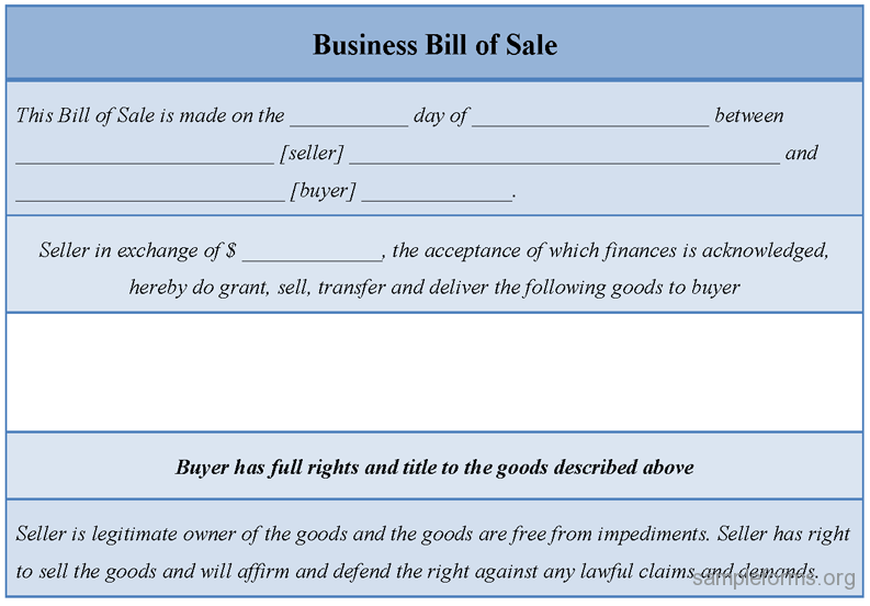 Business Sale Form   Business Sale Form Shows How A Contract Between A  Seller And Buyer
