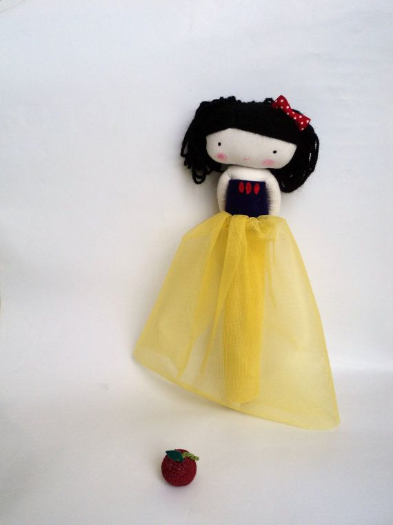 snow white rag doll  fairy tale princess by lassandaliasdeana