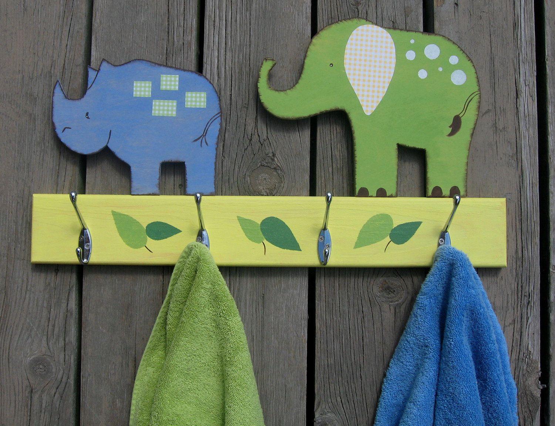 Safari Animals Bathroom Towel Hook Rack Pottery Barn