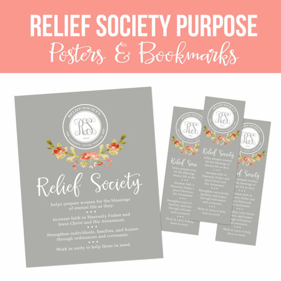 LDS Relief Society Printable Set-Relief Society Purpose-Posters and