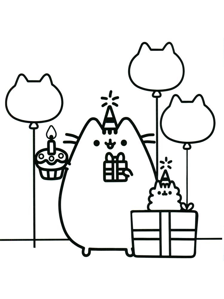 30++ Pusheen cooking coloring pages info