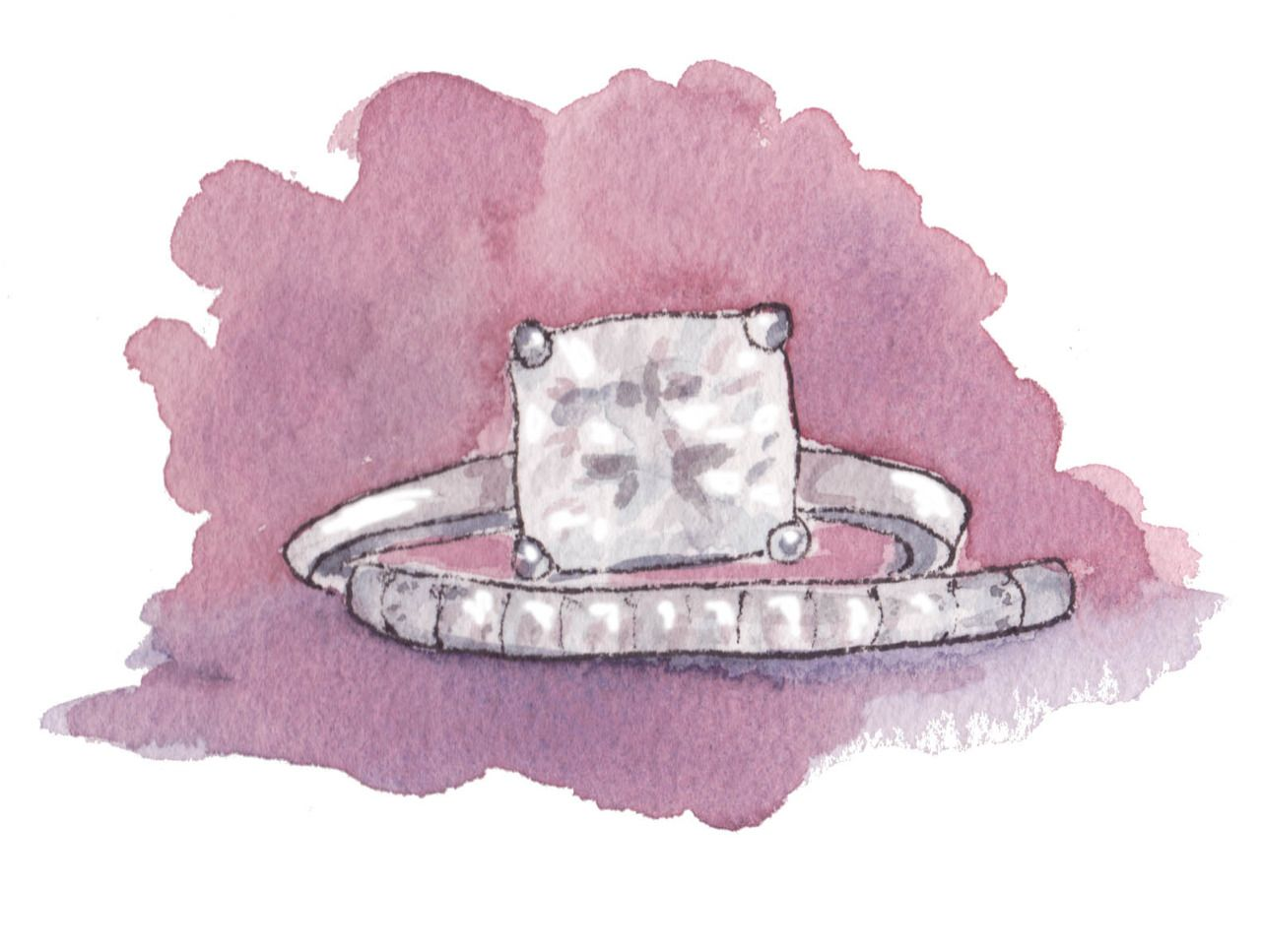 fashion illustration - engagement ring | .Etch a Sketch. | Pinterest ...