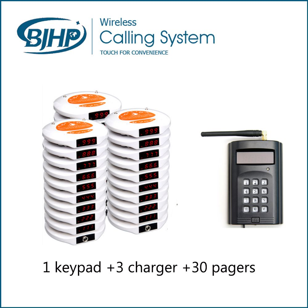 Restaurant Table Ordering System Keyepad With Coaster Pagers - Restaurant table ordering system