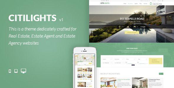 CitiLights - Real Estate WordPress Theme | Portal, Ópera y Drupal