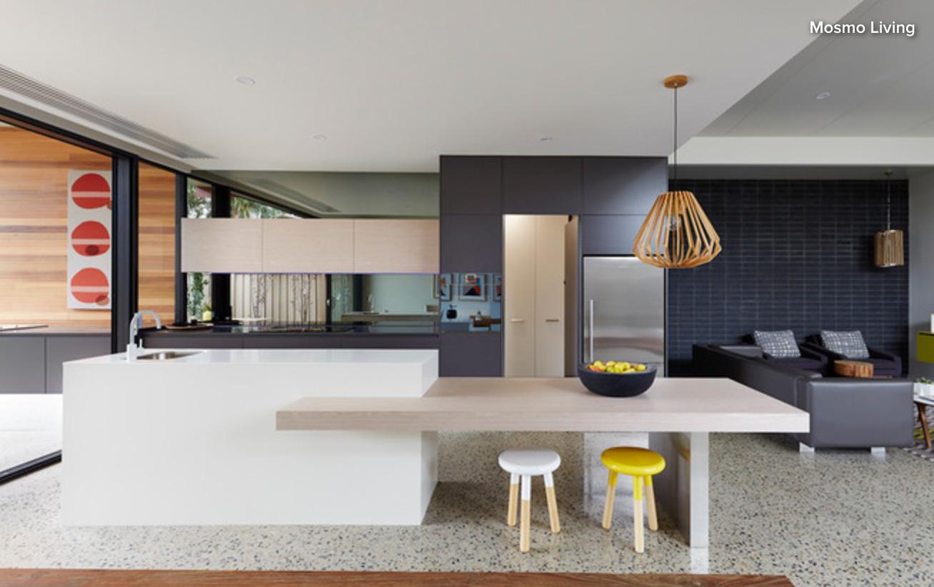 Drop Down Island Bench With Eating Option Outdoor Kitchen Design Kitchen Inspiration Design Stylish Kitchen Design