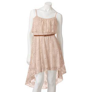 Lily Rose Lace Hi-Low Sleeveless Dress - Juniors Thats My Dress!!