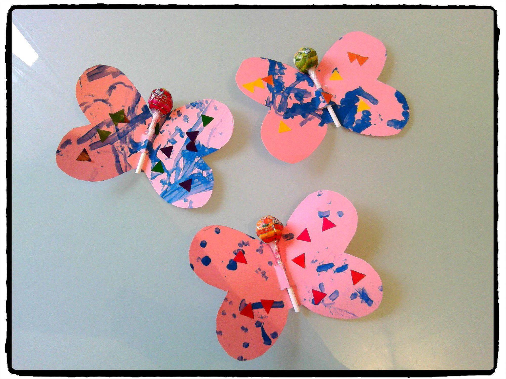 Papillons chupa sucette bricolage enfant et bonbon - Sac bonbon anniversaire a fabriquer ...