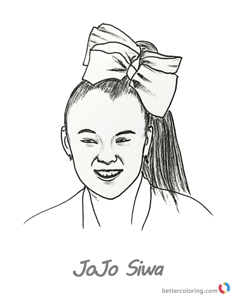 Jojo Siwa Coloring Pages Coloring Pages Love Coloring Pages Coloring Pages For Teenagers