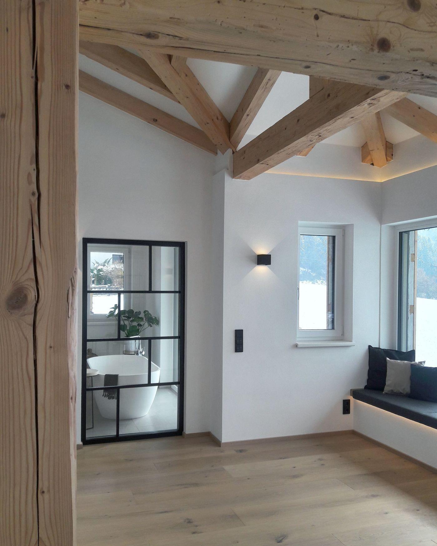 Schlafzimmer Ideen Dachgeschoss In 2020 Sichtdachstuhl Wohnen