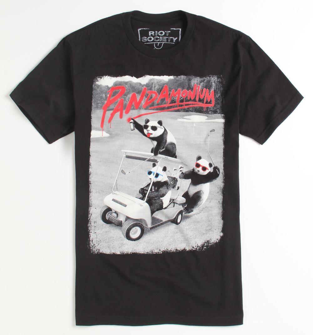 Mens Riot Society Tee - Riot Society Pandamonium T-Shirt