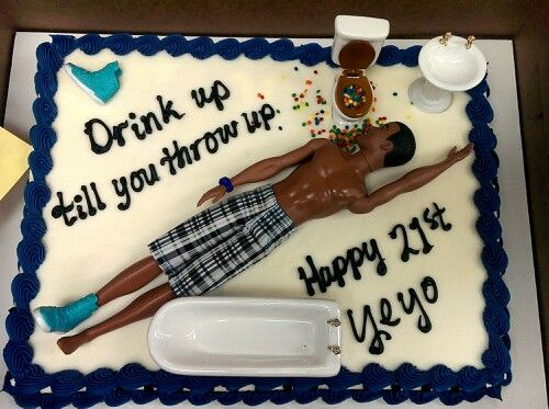 21 Figure Birthday Cakes: Ken Doll, Bathroom Set, Add Some Cake And Boom! Best 21st