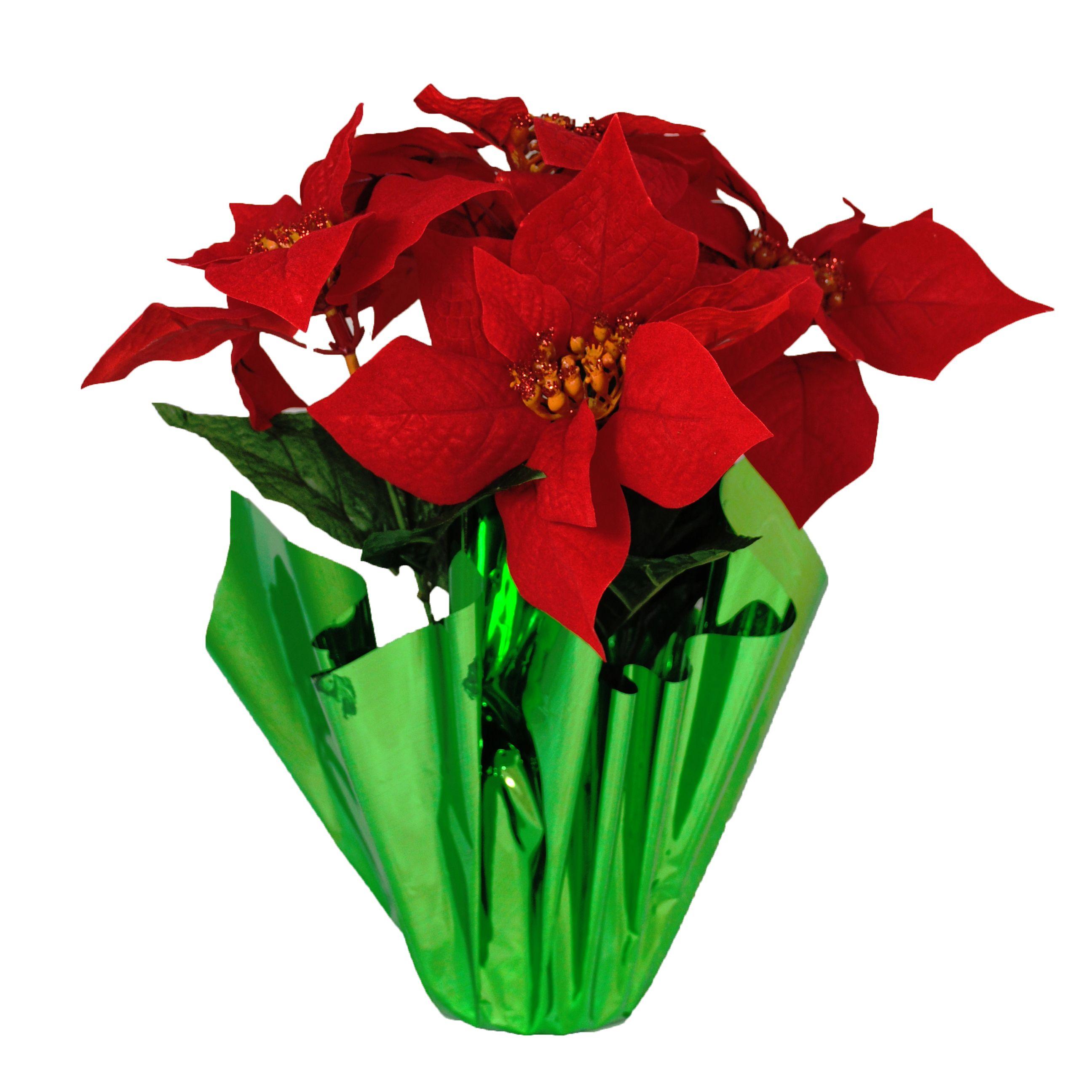 Christmas at Winterland WL5FLPOINSETTIA Red / Green