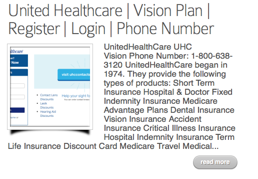 Https Www Myuhcvision Com United Healthcare Login United