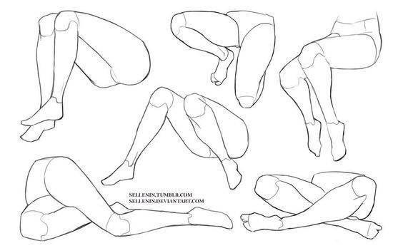 como-dibujar-piernas-de-personas3 | Anatomía | Pinterest | Piernas ...