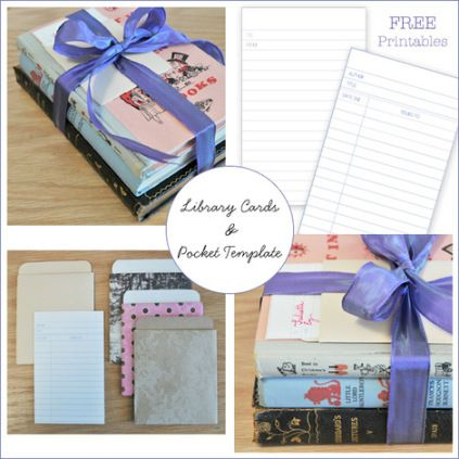 Freebie Library Card and Pocket Template Scrapbooking - library card template