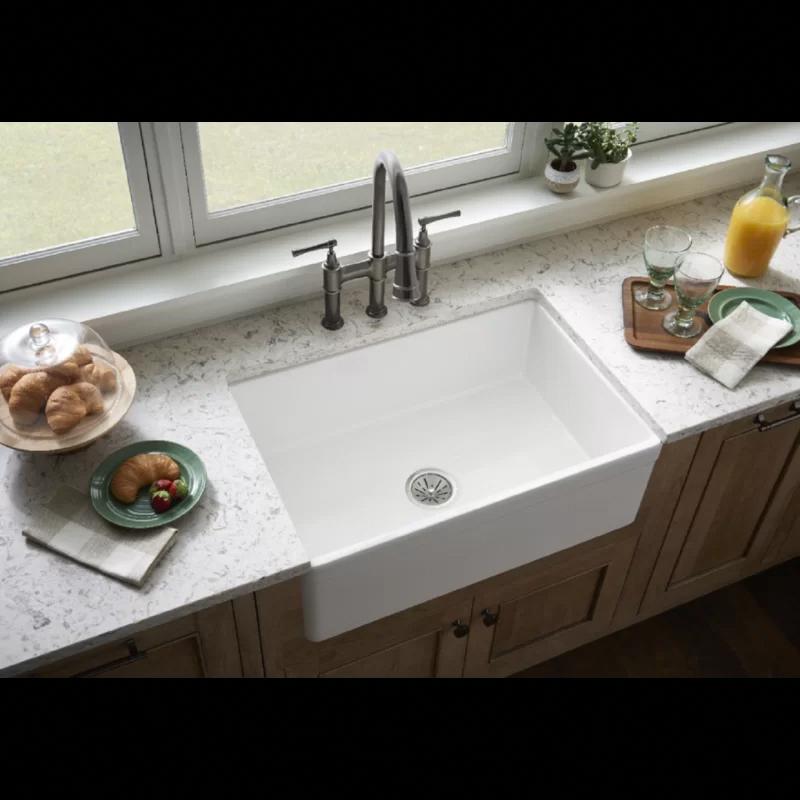 "Fireclay 30"" L x 20"" W Farmhouse Kitchen Sink in 2020"