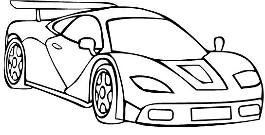 Ferrari Speed Turbo Coloring Page