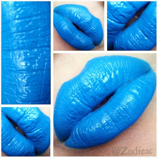 """In LOVE with """"Sky Blue"""" by @makeupbydna  it's so beautiful! I'll be posting a make-up look with this lipstick so stay tuned! <3333"""