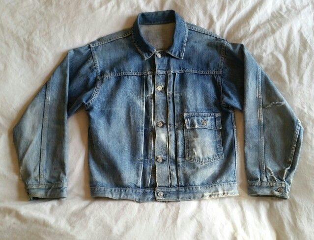 134fb0686c0 1940's Foremost J.C.P. CO one pocket buckle back pleated white-ear selvedge denim  jean jacket