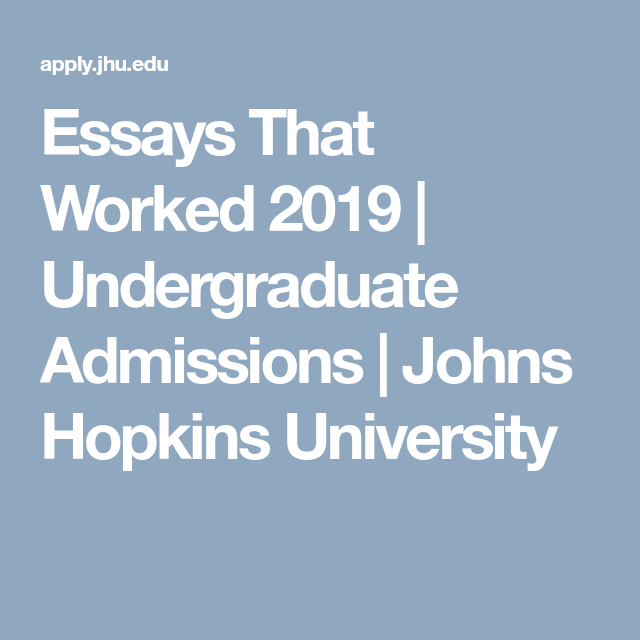 Essays That Worked 2019 Essay, College essay, Common app