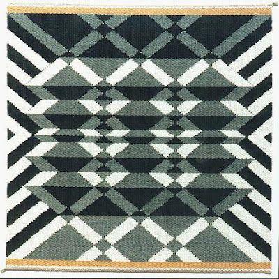 Tapestry by Danish weaver Lis Bech. via the site Danish Sister Bonde