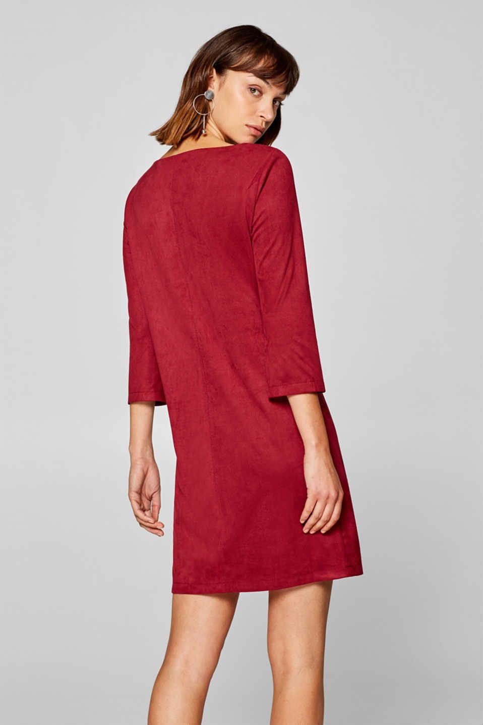 Esprit - Kleid in Veloursleder-Optik im Online Shop kaufen ...