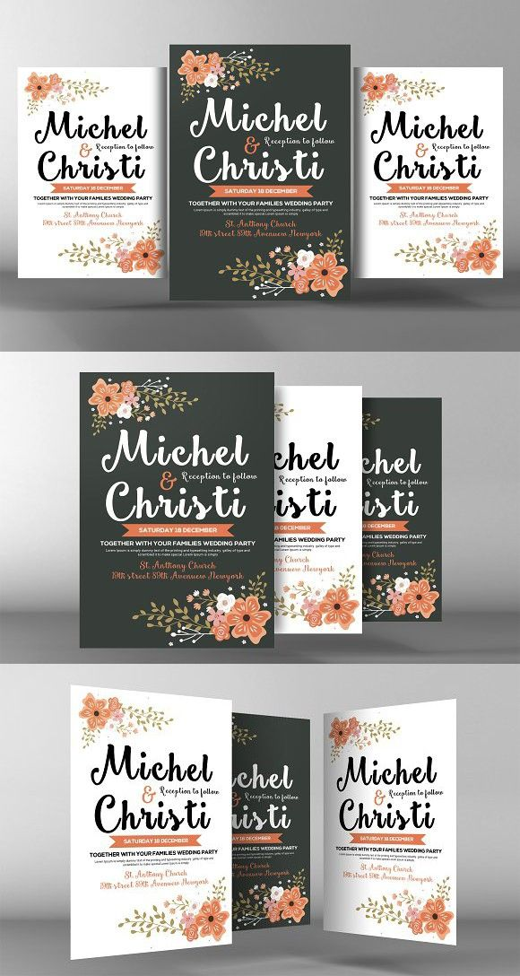 Wedding Invitation Flyer Template – Invitation Flyer Template