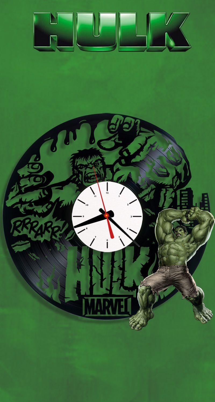 Hulk vinyl clock disney wall clock vinyl record clock 162 hulk vinyl clock disney wall clock vinyl record clock 162 avengers clock marvel clock original clock marvel horloge amipublicfo Images