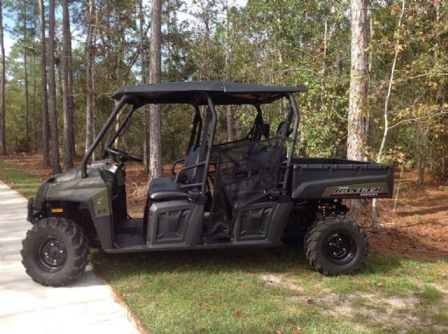 2013 polaris ranger crew 4 wheeler green 30 hours for sale in st augustine fl side by. Black Bedroom Furniture Sets. Home Design Ideas