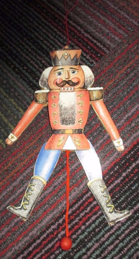 NUTCRACKER SUITE PULL STRING ANIMATED PUPPET HANGING ORNAMENT BY