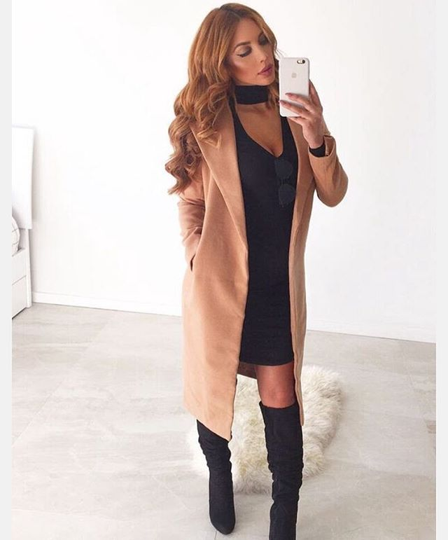 HARLEM COAT in CAMEL Worn by Bae @marianneknerr • Shop now at #NRboutique.