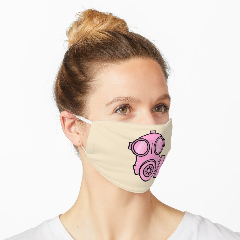 Pink Swat Cartoon Army Gas Mask Respirator Mask By Ruftup Redbubble Mask Fashion Face Mask Face