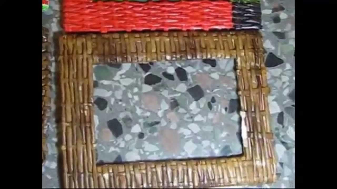 Marco tejidos parte 1 canastos de papel pinterest - Como hacer marcos de cuadros ...