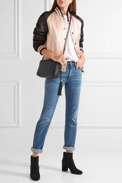 50a820744 Saint Laurent | Monogramme Lou leather shoulder bag | NET-A-PORTER.COM