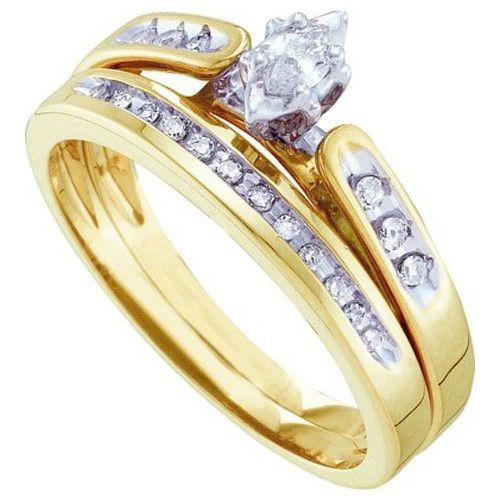 1/5CT-Diamond MQ-CENTER BRIDALSET