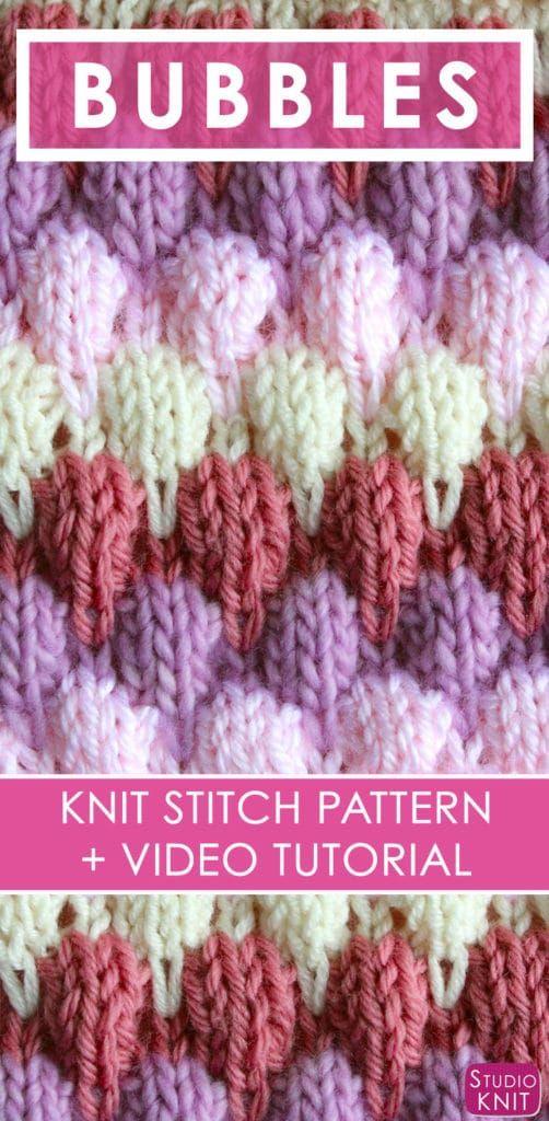 Knitting Up The Bubble Stitch Pattern By Knitting Pinterest