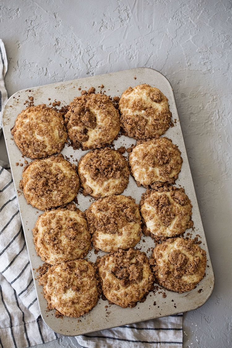 Coffee cake streusel muffins cooking with cocktail rings