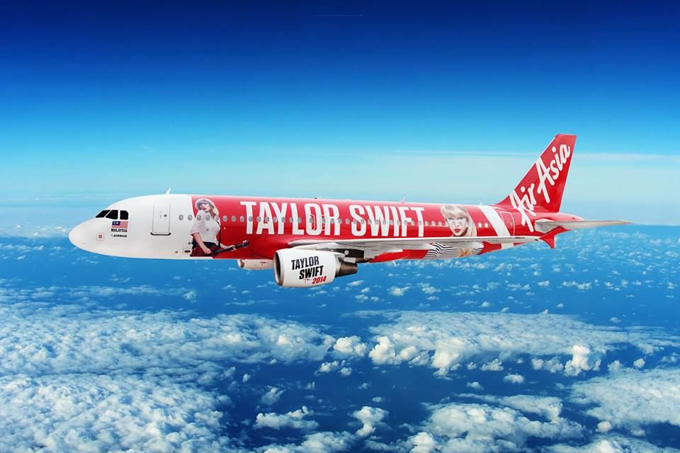 Special Livery For Taylor Swift Air Asia Aircraft Art Aircraft Painting